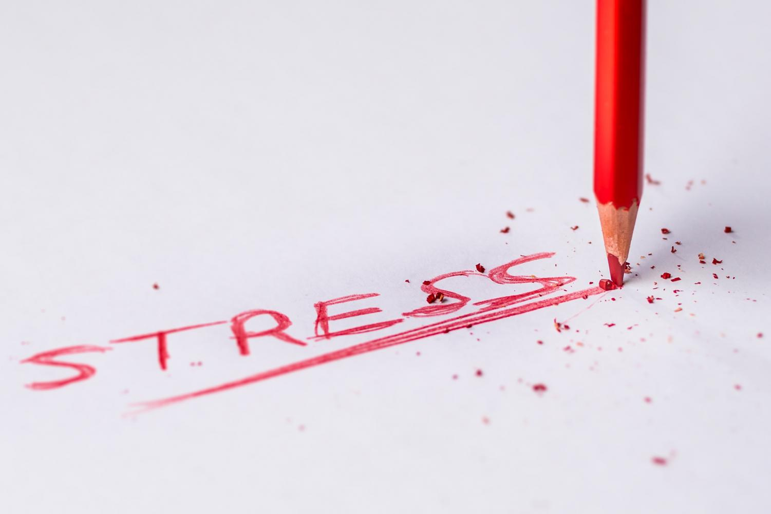 One of the main problems that students cite is stress.