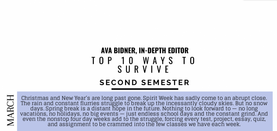 10 Ways to Survive Second Semester (Post Spirit Week)