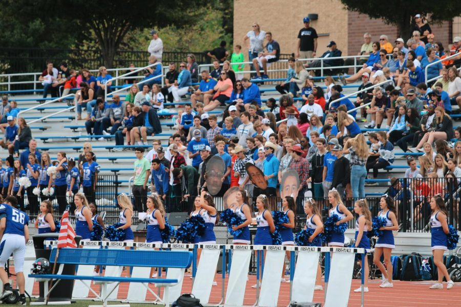 The Westminster Blue Crew brought spirit and enthusiasm to the Homecoming football game.