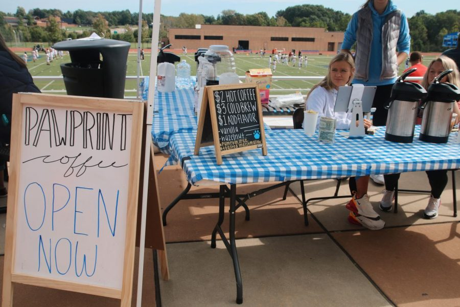 Pawprint Coffee, a company run by WCA entrepreneurship students, advertised at Carnival and sold coffee at their booth.