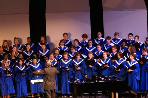 The chamber choir showcases several musical pieces at the concert performance.
