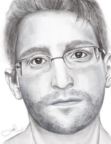 Sketched by Lea Despotis. Edward Snowden from his new book Permanent Record.
