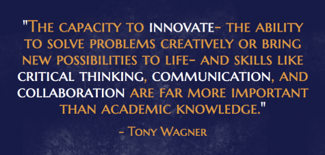 Tony Wagner's view of the essential skills to be gained from education.