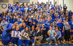 The senior class on Class Color Day.
