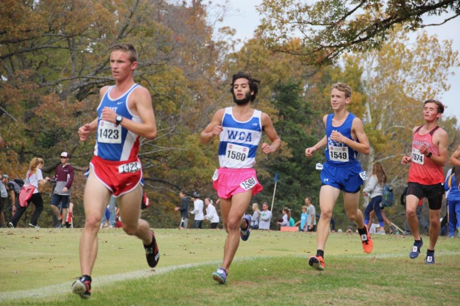 Brendan Grbcich runs a race during his time at Westminster.