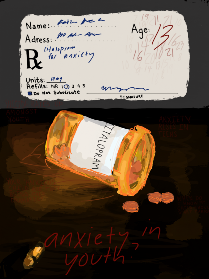 An artistic representation of anxiety medication and the confusion surronding anxiety