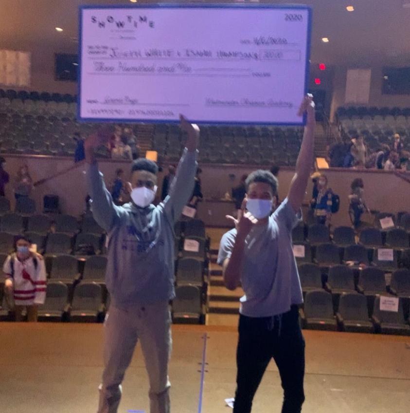 The grand prize winners Joseph white and Isaiah thomspon