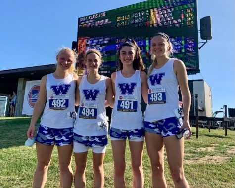 The girls had a great time racing at one of the nicest courses in the Midwest.