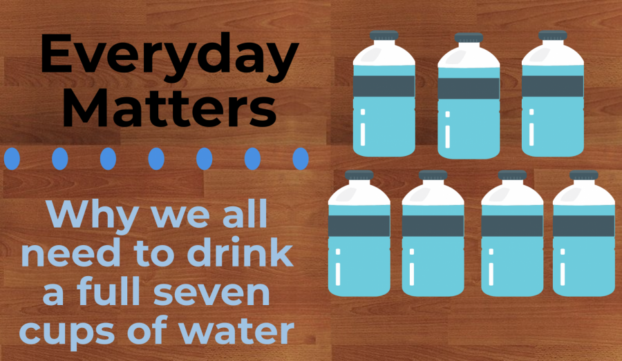Why we all need to drink a full seven cups of water