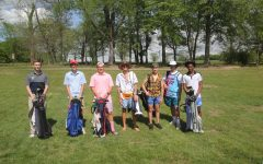 The Westminster golf squad poses in their unique attire.