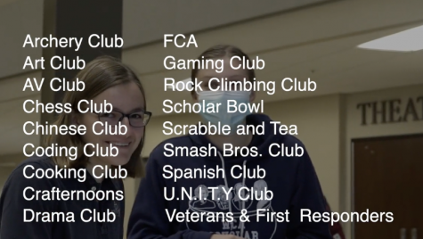 A list of clubs here at Westminster that you can get connected with.