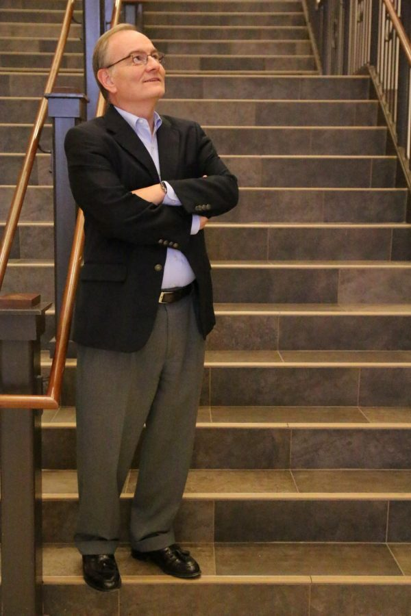 Dr. Mosbacker poses casually on the Grand Entry staircase. He is a one of a kind leader, and we here at WCA enjoy is strong leadership.