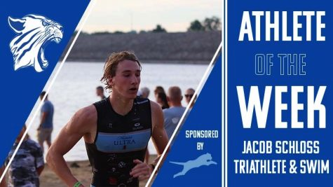 Jacob Schloss participated in the Carlyle Lake Triathlon.
