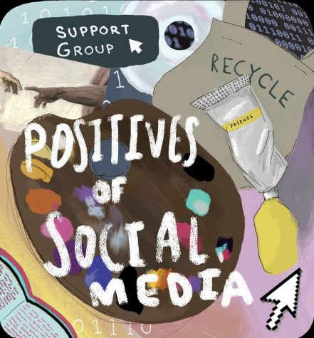 Social media encourages creativity and develops artistic ability, informs people, offers support, and brings different cultures together.