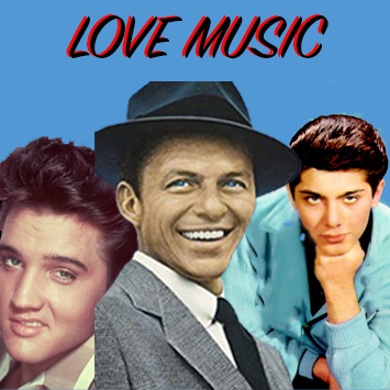 Elvis Presley (left), Frank Sinatra (middle), Paul Anka (right) speaking more   into the idea that the old music is better.